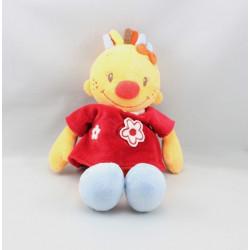 Doudou fille Lily jaune orange robe rouge NATTOU