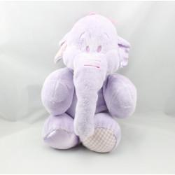 Doudou Eléphant Lumpy satin vichy Disney Nicotoy