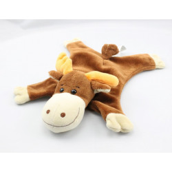 Doudou plat renne marron orange HAPPY HORSE