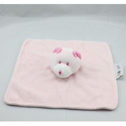 Doudou plat ours rose BRUIN