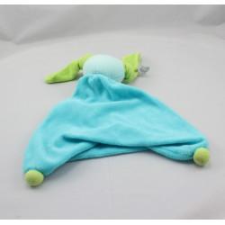 Doudou plat lapin bleu vert PEPPA