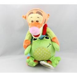 Doudou musical tigrou bleu vert grenouille DISNEY