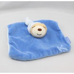 Doudou Plat ours endormi bleu K KALOO