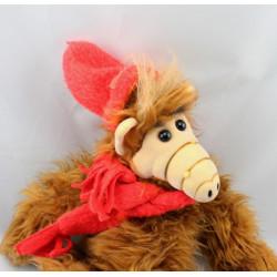 Ancienne Peluche Extra-terrestre ALF bonnet et écharpe rouge BULLY 1987