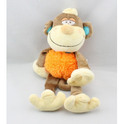 Doudou singe marron orange BENGY