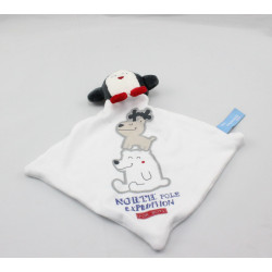 Doudou plat blanc pingouin North Pole Expedition TOUT SIMPLEMENT