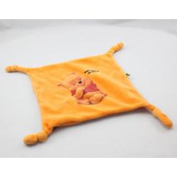 Doudou plat Winnie l'ourson orange Baby Pooh is so sweet Disney