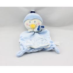 Doudou plat pingouin bleu blanc Youpik NICOTOY