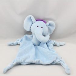 Doudou plat éléphant bleu LUC ET LEA