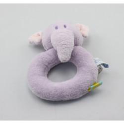 Doudou hochet anneau Eléphant mauve Lumpy Disney baby