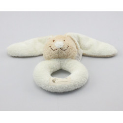 Doudou hohet lapin blanc beige NICOTOY