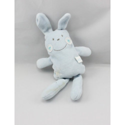 Doudou lapin bleu FLEURUS