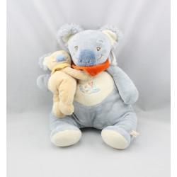 Doudou musical koala bleu foulard rouge bébé NOUKIE'S