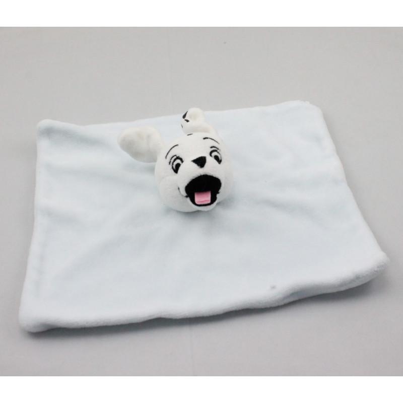 Doudou plat chien dalmatien bleu DISNEY