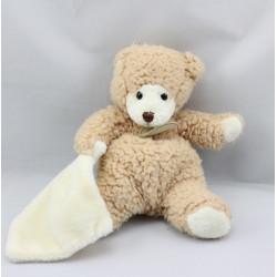 Doudou Ours beige avec mouchoir Baby Nat