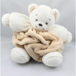Doudou ours plume beige blanc KALOO