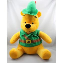 Grande peluche Winnie l'ourson déguisé en Robin des Bois DISNEY