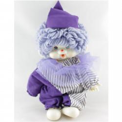 Ancienne Peluche Singe Kiki clown violet
