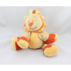 Doudou musical lion beige orange rouge DOUKIDOU