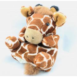 Doudou marionnette girafe BORN IN AFRICA