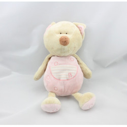 Doudou chat beige rose CUTIES