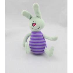 Doudou lapin vert violet TAF TOYS