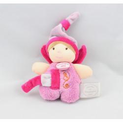 Doudou et compagnie Demoiselle fée rose attache tétine