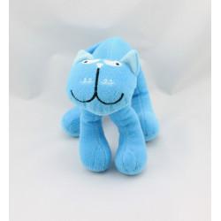 Doudou peluche chat bleu