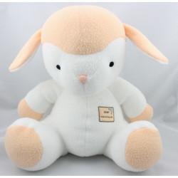 Doudou agneau mouton blanc beige Ptit Namour AUCHAN