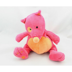Doudou renard loup rose orange