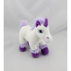 Doudou licorne blanche mauve violet GIPSY