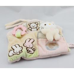 Doudou plat eveil maison chat Hello Kitty SANRIO LICENSEse SANRIO LICENSE JEMINI