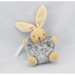 Mini Doudou lapin gris fourrure Fur KALOO