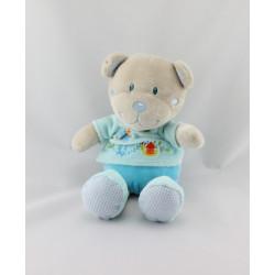 Doudou ours beige bleu papillon escargot TEX BABY