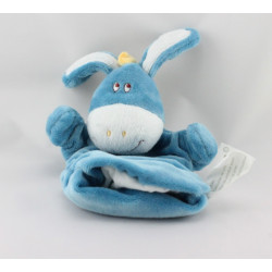 Doudou plat marionnette ane bleu KIMBALOO