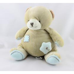 Doudou musical ours beige bleu Caramel étoile BEBE 9