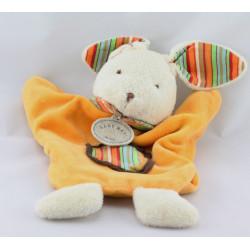 Doudou plat marionnette lapin orange BABY NAT