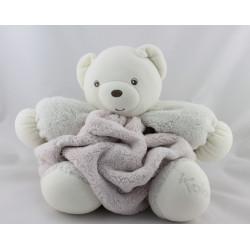 Doudou ours plume blanc rose KALOO