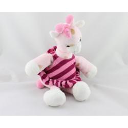 Doudou girafe rose robe HM - H.M H ET M