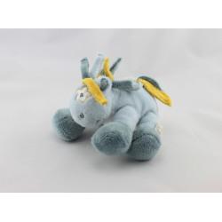 Doudou ane cheval bleu jaune étoile Victor et Lucien NOUKIE'S