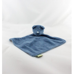Doudou plat ours bleu EURODIF
