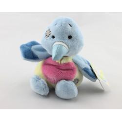 Doudou oiseau bleu jaune coeur rose Aimée BLUE NOSE