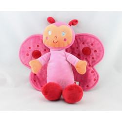 Doudou papillon rose orange INFLUX