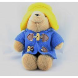 Peluche ours Paddington Bear manteau bleu chapeau jaune EDEN
