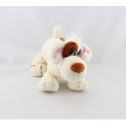 Doudou chien blanc marron qui aboie GIPSY