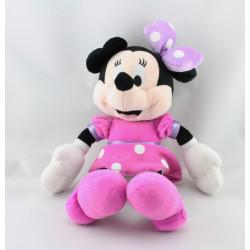Peluche Minnie robe rose mauve à pois DISNEY NICOTOY