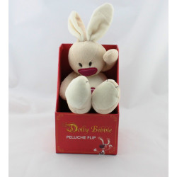 Doudou lapin beige rouge Flip DOLLY BIBBLE GIFI
