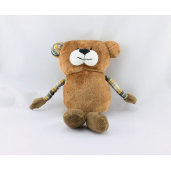Doudou ours marron carreaux AUBERT