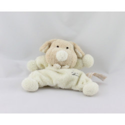 Doudou semi plat chien écru beige TIAMO COLLECTION
