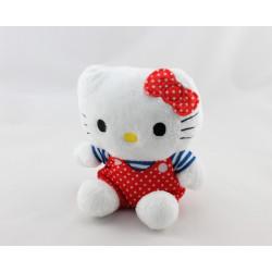 Doudou chat HELLO KITTY rouge bleu pois Sanrio License
